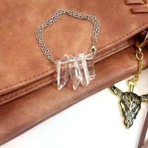 Moving Sale! Clear Quartz Bohemian Bracelet